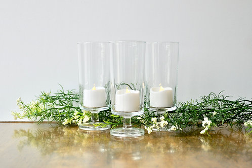 Tall Glass Tealight Candle Holders