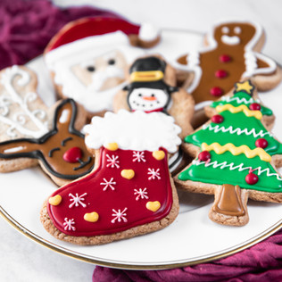 Christmas Iced Sugar Cookies