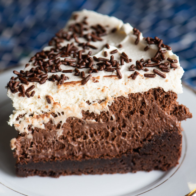 Chocolate Brownie Mousse Pie