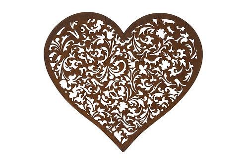 Rusty Heart Wall Plaque