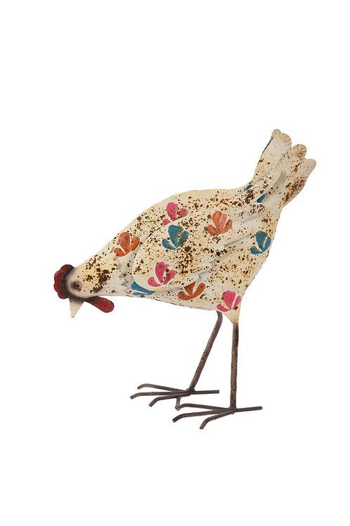 Cream Painted Hen