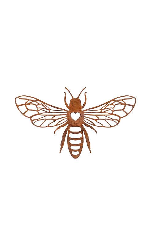 Rusty Bee Wall Plaque