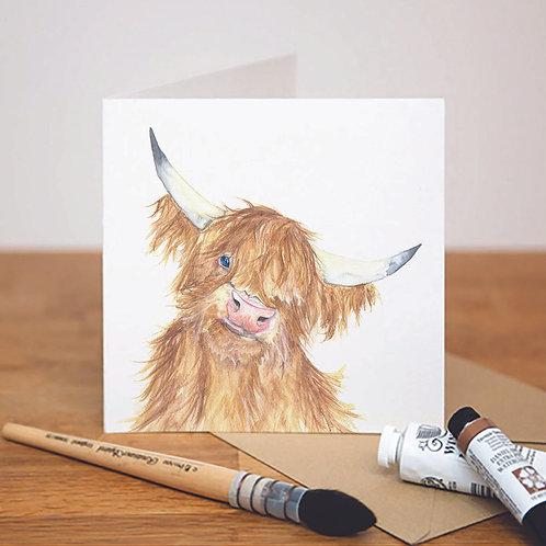 Heads Up! Highland Cow Card