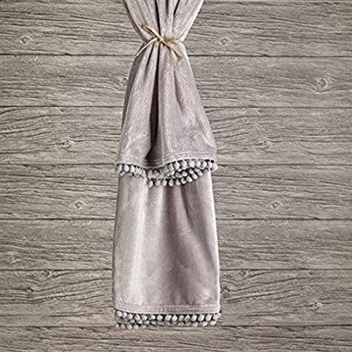 Grey Cashmere Touch Fleece Throw