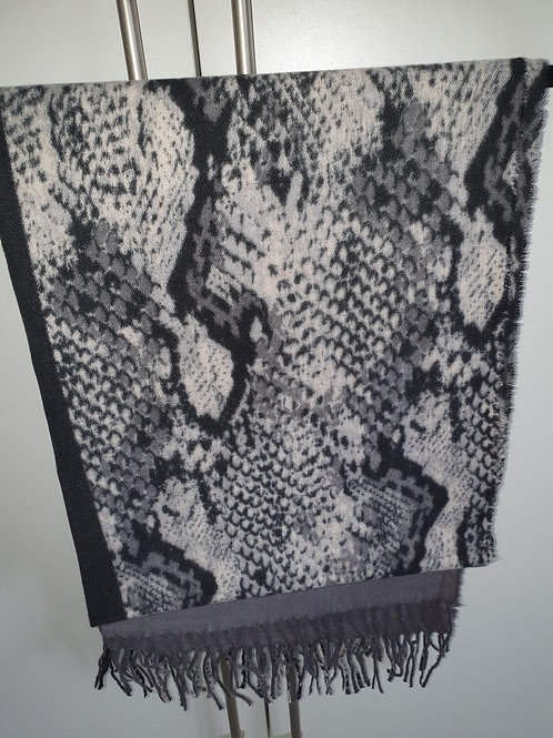 Snakeskin Black & Grey Scarf