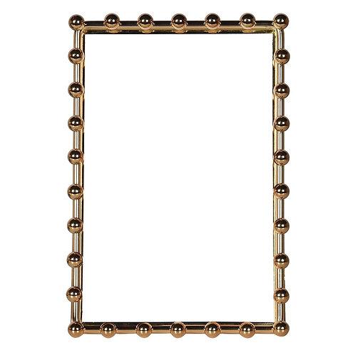 Large Gold Beaded Photo Frame