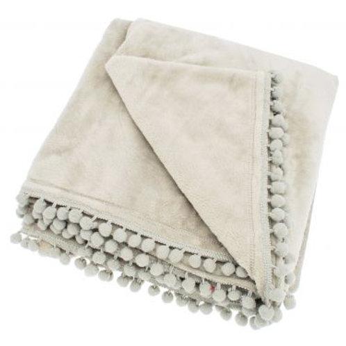 Linen Coloured Cashmere Touch Fleece Throw