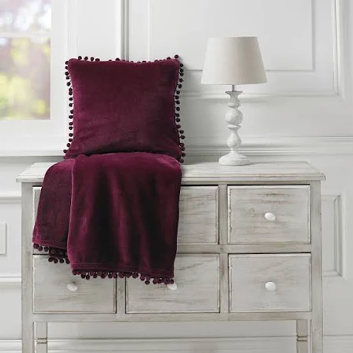 Mulberry Cashmere Touch Fleece Throw