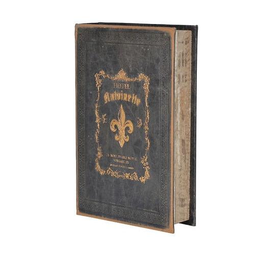 Small Antique Black Book Box