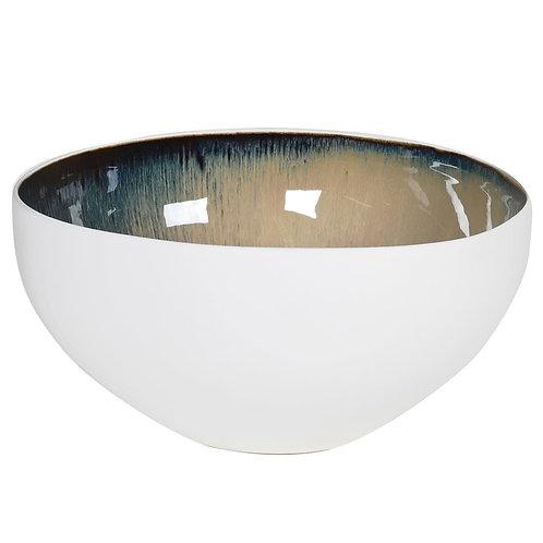 Atomic Blue and White Large Bowl