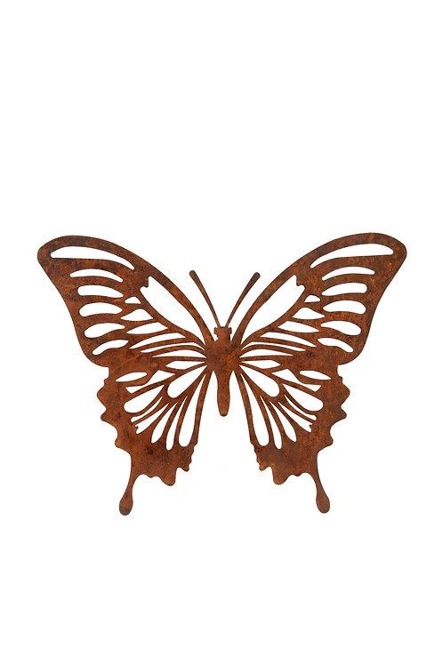 Rusty Monarch Butterfly Wall Plaque