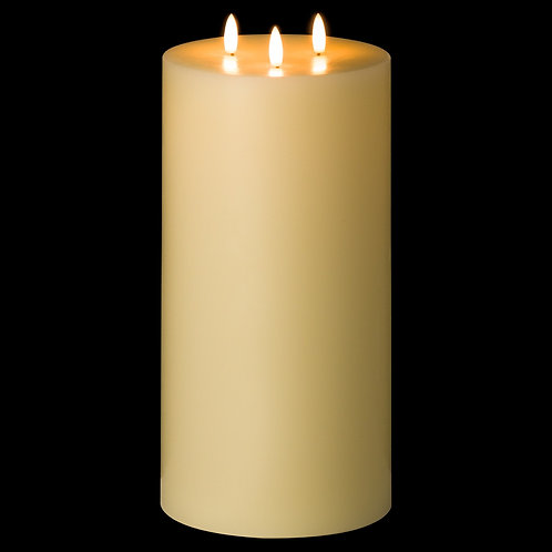 Luxe Collection Natural Glow 6 x 12 LED Ivory Candle