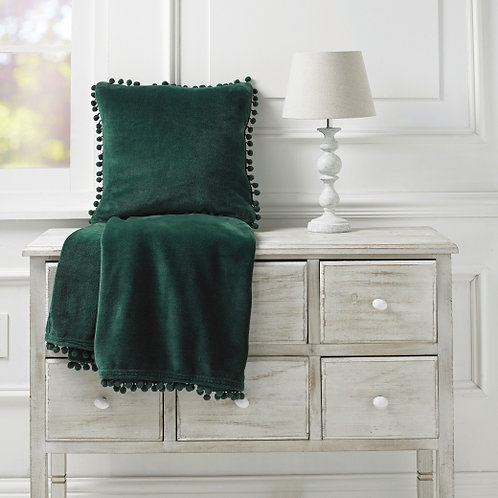 Emerald Cashmere Touch Fleece Throw