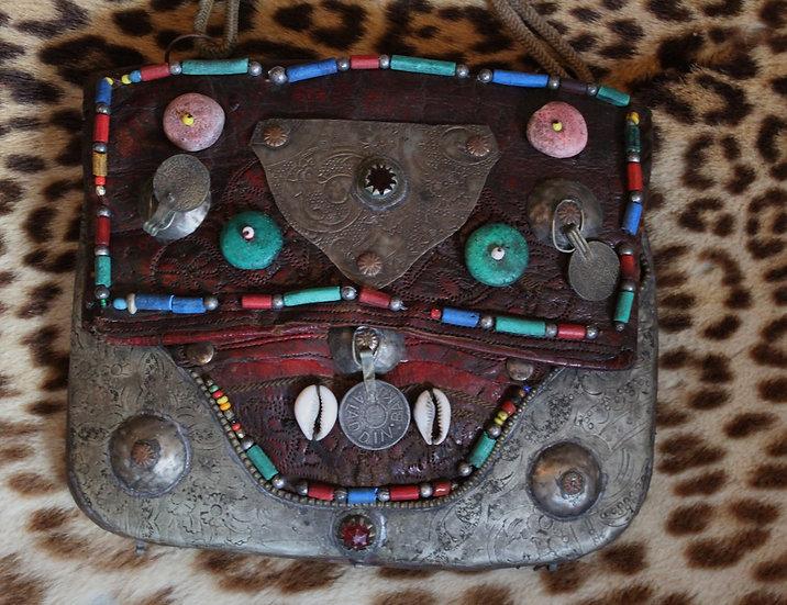 Vintage Moroccan Berber Embellished Bag