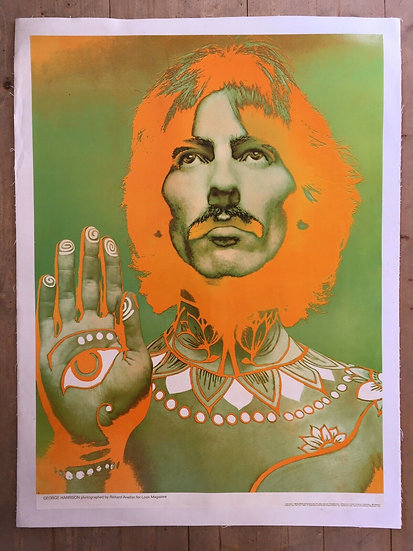 George Harrison by Richard Avedon Poster 1967