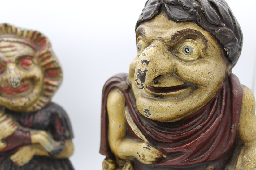 Victorian Cast Iron Punch and Judy Door Stops