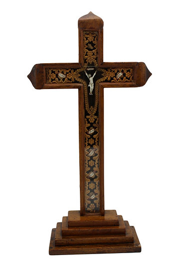 French 19th Century Reliquary Crucifix