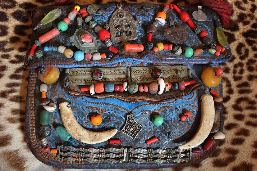Antique Moroccan Berber Trade Bead Bag