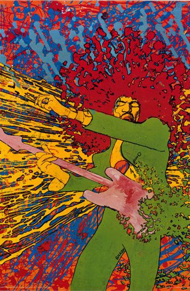 Martin Sharp Jimi Hendrix Poster