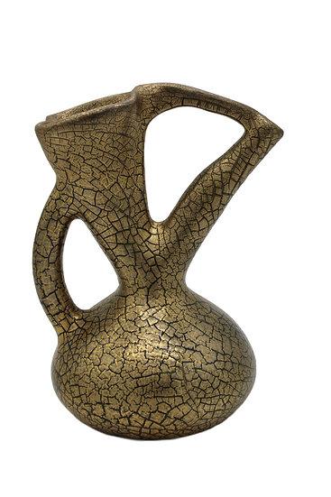 Edmund Elton Sunflower Pottery Crackle Glaze Ewer