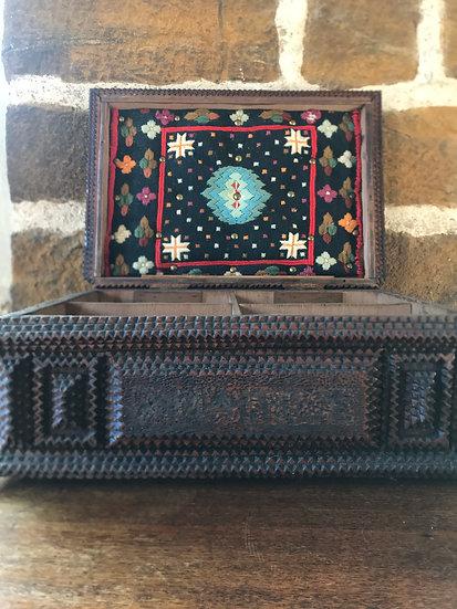 19th Century European Tramp Art Box