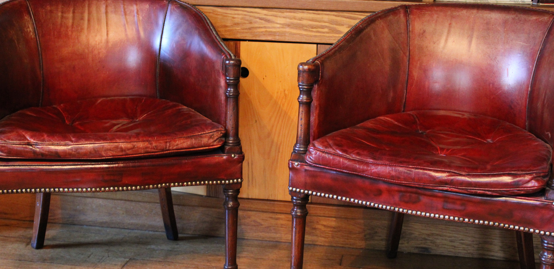 Regency Leather Library Chairs