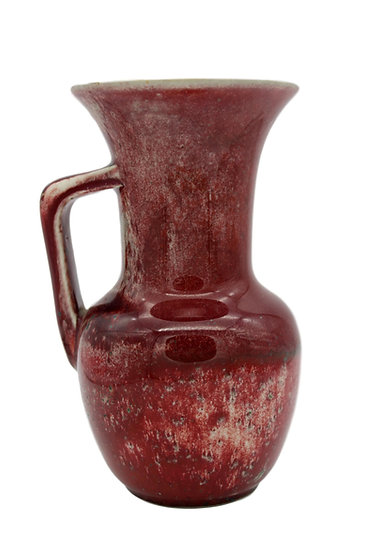 Ruskin High Fired Sang de Boeuf Vase