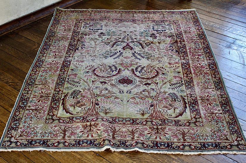 Antique Silk Persian Rug