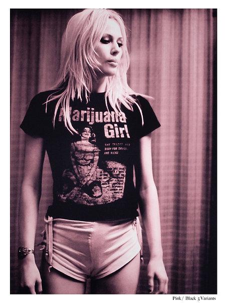 Marijuana Girl Silkscreen Print - Gerald Jenkins