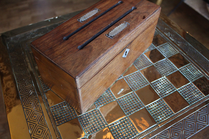 Antique Regency Rosewood Letter Box