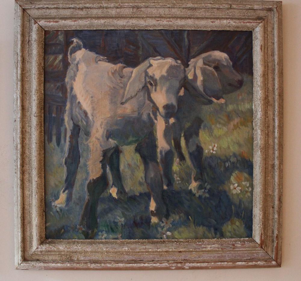 Impressionist Lamb Oil Painting