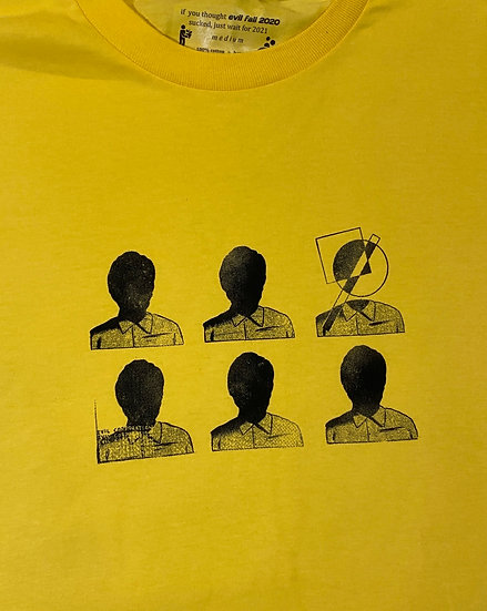 Yellow shape head shirt