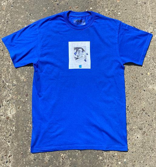 blue collage shirt