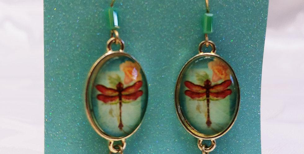 Earrings -Dragonfly