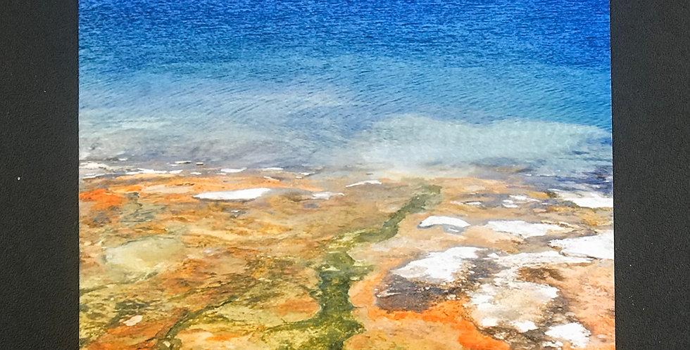 "Card, 5.5"" x 8.5"" - Steamy Shores, Yellowstone. Blank inside"