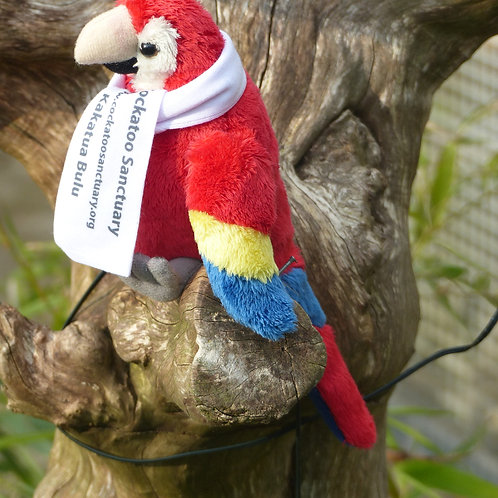 Scarlet Macaw Soft toy With Branded Scarf