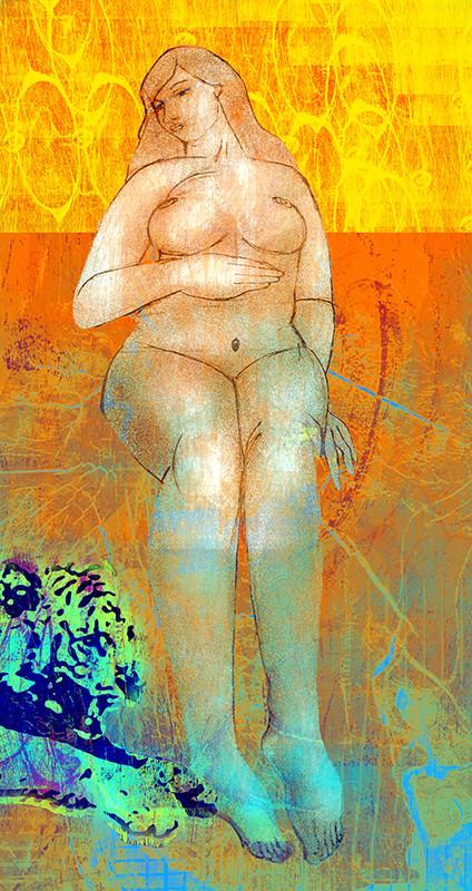Cromoxilografía digital. Claudia Botero.