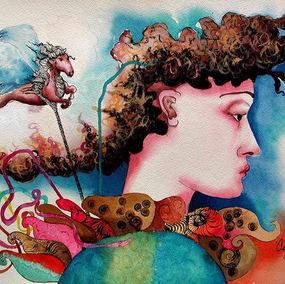 #watercolor #beautiful #horses #art #ima