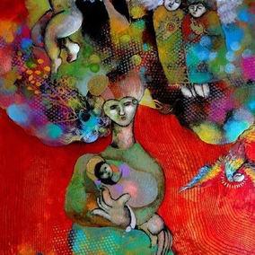 #art #virgen #colorful #donkey.jpg