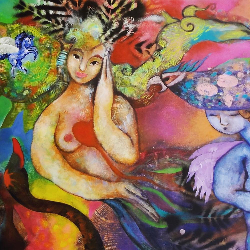 Acrílico sobre canvas por Claudia Botero
