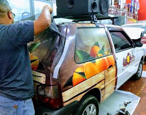 Ao vivo envelopamento do carro de som _#