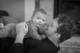 Natalia Radcliffe - Portrait Photography - Father and Son in Black and White