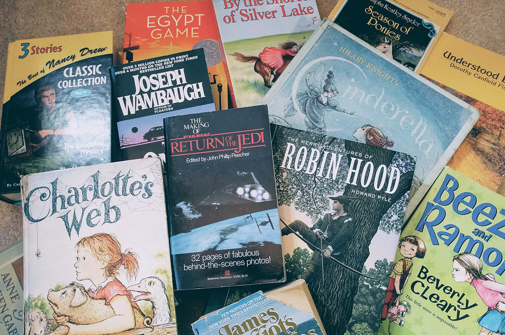 A handful of books from a 5 minute rummage of my shelves. Notes: Joseph Wambaugh is not an appropriate book for children!