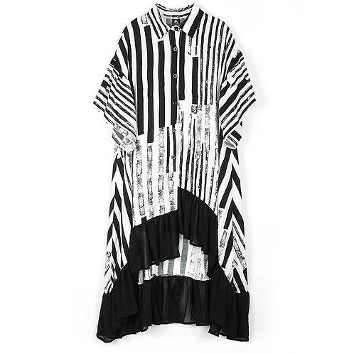 Signature Dipped Hem Dress White