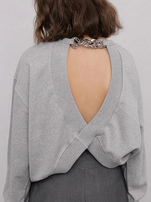 women's grey jumper