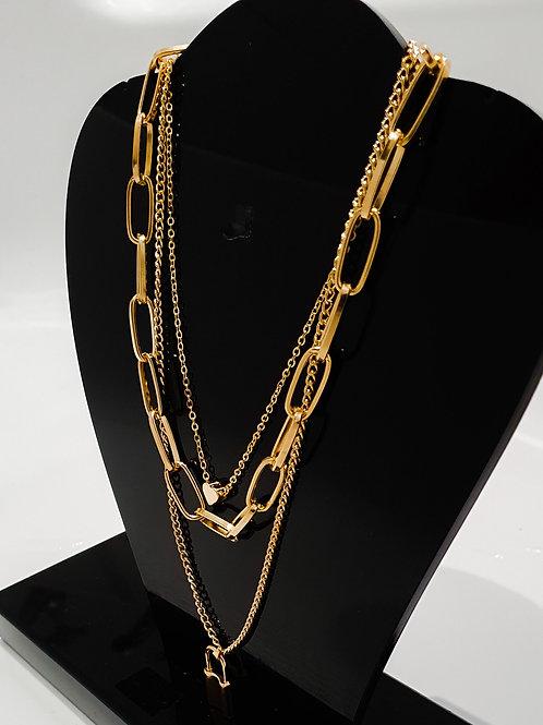 Gold Padlock Link Chain