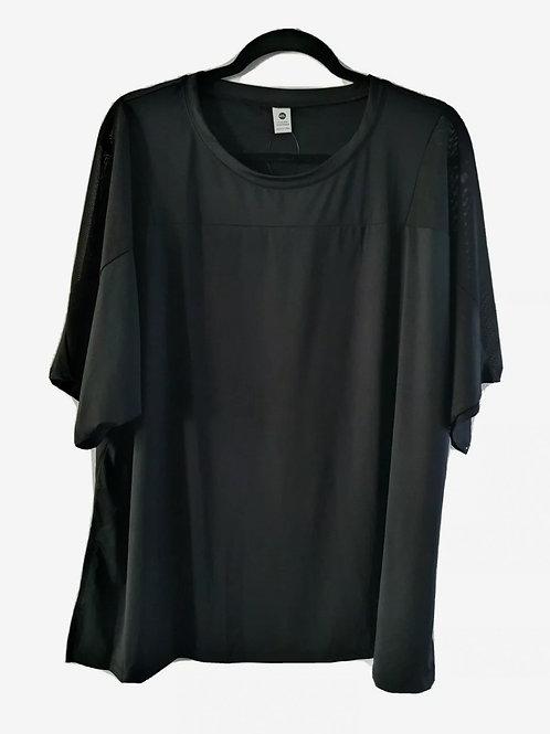Mesh Shoulder Active T-Shirt (Black)
