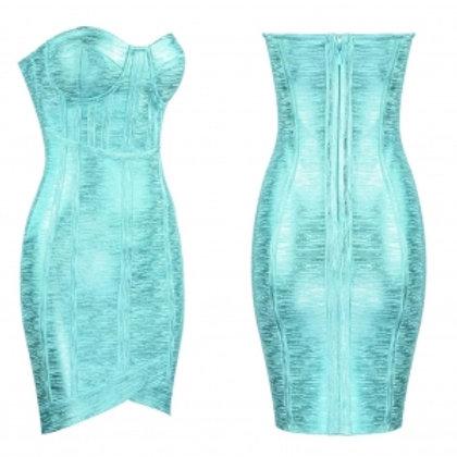 Foil Bandage Dress