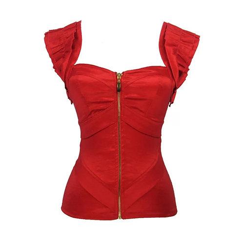 Red Bustier Top