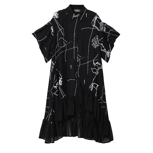Signature Dipped Hem Dress